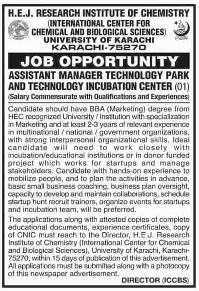 Jobs In University Of Karachi