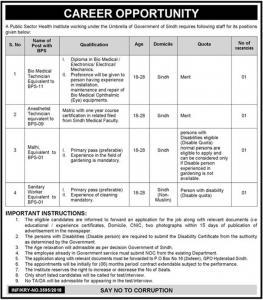 Jobs In Public Sector Health Institute