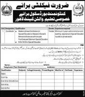 Jobs In Cantonment Board School Lahore