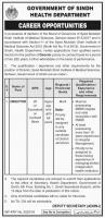 Jobs In Government Of Sindh Health Department