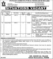 Jobs In Punjab Agriculture Research Board (PARB)