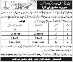 Jobs In The University Of Lahore (UOL)