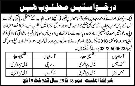 Jobs In Lahore Cantonment Board