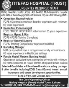 Jobs In Ittefaq Hospital Lahore