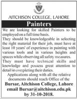 Jobs In Aitchison College Lahore