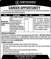 Jobs in Fauji Foundation 2018