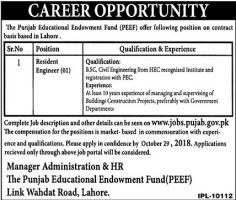 Jobs In The Punjab Educational Endowment Fund PEEF