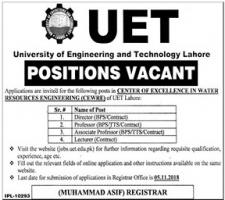 Jobs In University Of Engineering And Technology
