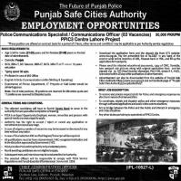 Punjab Safe Cities Authority Latest Jobs By NTS
