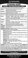 Jobs For Teachers In Fauji Foundation Model Schools