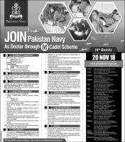 Join Pakistan Navy As Doctor