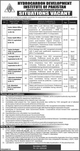 Jobs In Ministry Of Energy Petroleum Division Govt Of Pakistan