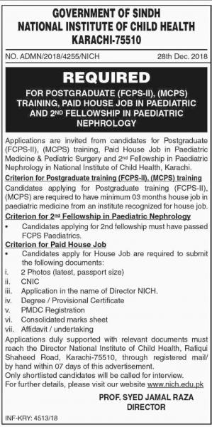 Jobs In National Institute Of Child Health NICH