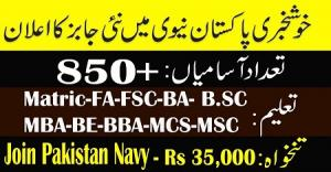 Join Pakistan Navy Through Short Service Commission Course 2019-A