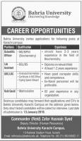 Jobs In Bahria University Karachi
