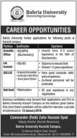 Jobs In Bahria University Karachi Campus