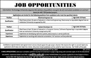 Jobs In Information Technology University