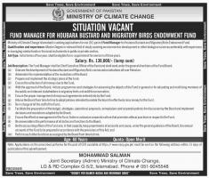 Jobs In Ministry Of Climate Change Govt Of Pakistan