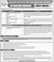 Jobs In Pakistan Institute Of Parliamentary Services - PIPS Jobs 2019