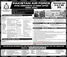 Pakistan Air Force - PAF Jobs December 2018 - Latest Advertisement