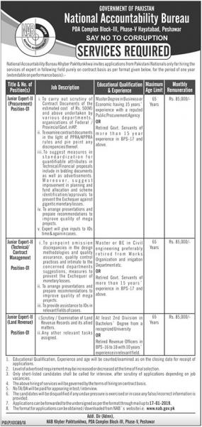 Jobs In National Accountability Bureau NAB