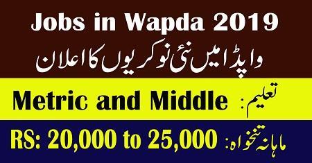 Jobs in Wapda 2019 - Water And Power Development Authority Jobs 2019