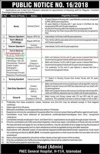 Pakistan Atomic Energy Jobs 2019