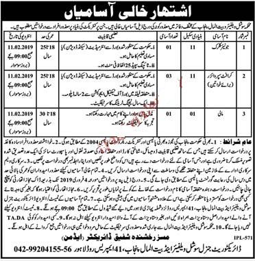 Social Welfare and Bait ul Maal Jobs 2019
