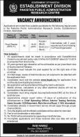 Jobs In Establishment Division Govt Of Pakistan