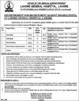 Jobs In Lahore General Hospital Lahore LGH