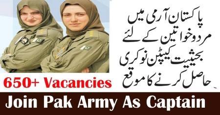 Join Pakistan Army As Captain/Major - Pakistan Army Jobs 2019