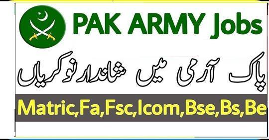 Jobs In Pakistan Army - New Pak Army Jobs 2019