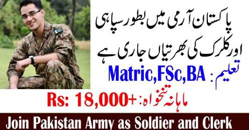 Join Pak Army As Soldier & Clerk 2019 - Latest Advertisement - Apply Now