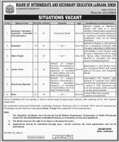 Jobs In Board Of Intermediate And Secondary Education 2019