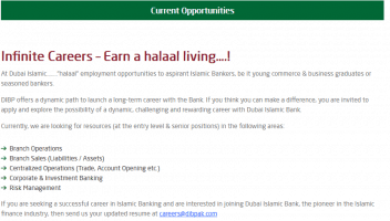 Jobs In Dubai Islamic Bank 2019 - DIB Jobs 2019