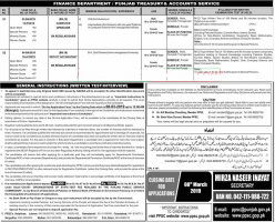 Jobs In Finance Department Punjab 2019