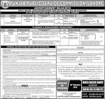 Jobs In Punjab Public Service Commission - PPSC Jobs 2019