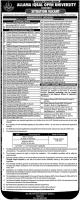 Jobs In The Allama Iqbal Open University - AIOU Jobs 2019