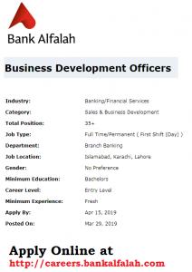 Bank Alfalah Jobs April 2019 - Bank Alfalah Latest Jobs In Pakistan 2019
