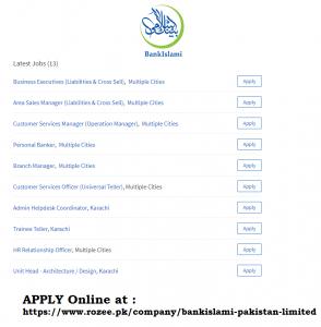 Jobs At BankIslami Pakistan Limited April 2019