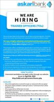 Askari Bank Internships - Askari Bank Limited trainee Officer Program 2019