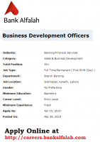 Bank Alfalah Jobs April 2019 - Bank Alfalah Latest Jobs In Pakistan 2019