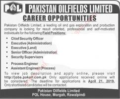Career Opportunities In Pakistan OilFields Limited - pakoil.com.pk jobs 2019