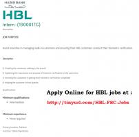HBL Bank Jobs 2019 - Jobs In Habib Bank Limited 2019