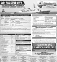 Join Pak navy SSC 2019 A - www.joinpaknavy.gov.pk Online Registration