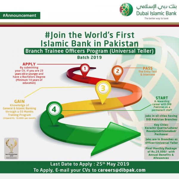 Dubai Islamic Bank Trainee Officer Program - DIB Internship