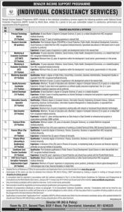 Jobs In Benazir Income Support Programme BISP 2019
