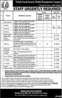 Jobs In Punjab Social Security Health Management Company PSSHMC
