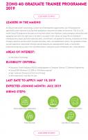 Zong 4G Graduate trainee Programme 2019