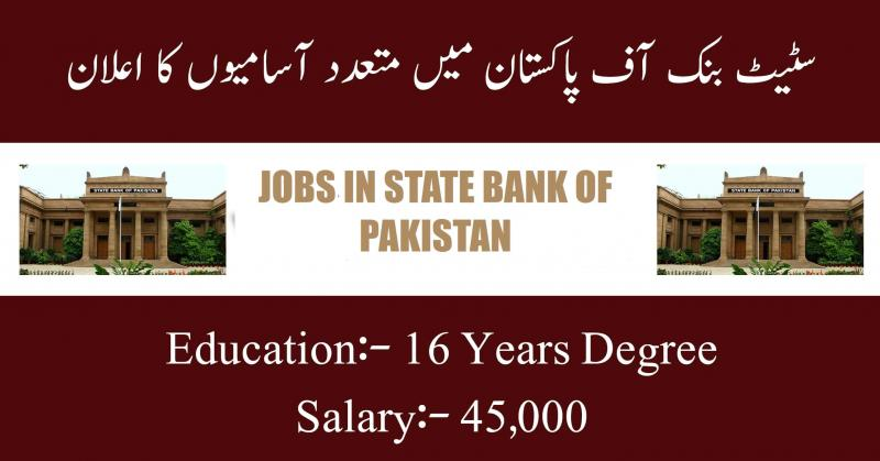 Jobs In State Bank Of Pakistan June 2019